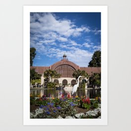 Egret in front of the Botanical Building Art Print