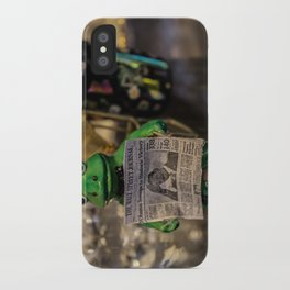 Froggy Reads the Wall Street Journal iPhone Case