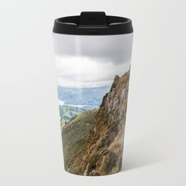 High Upon a Mountain Top, Akaroa, New Zealand Travel Mug