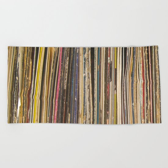 Records Beach Towel