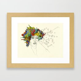 SplatterHead. Framed Art Print