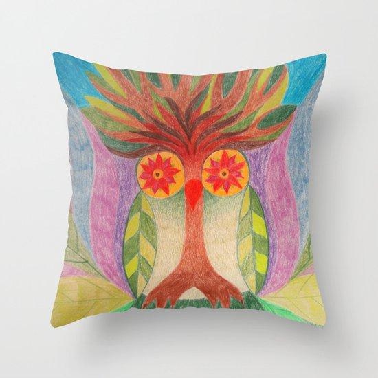 Throw Pillows With Owls : Tre,e Owl Throw Pillow by Owl Art Suri Society6