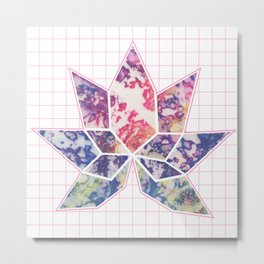 Lotus Grid Metal Print