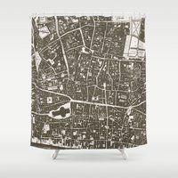 london map Shower Curtains featuring London Map by Zeke Tucker