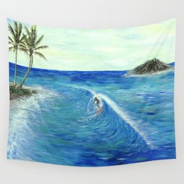 Old Hawaii 1 of 3 Wall Tapestry