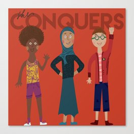 she conquers. Canvas Print