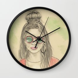 Insomnia colorized Wall Clock