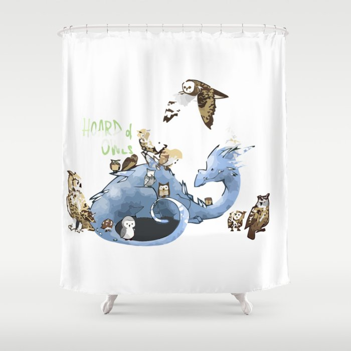 Hoard of owl Shower Curtain