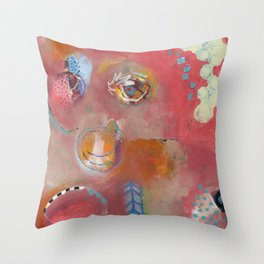 Too Pink For Comfort Throw Pillow