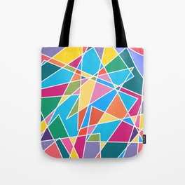 Angled Colors Tote Bag