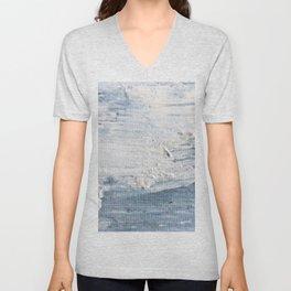 Seascape Relief (Acrylic Painting) Unisex V-Neck