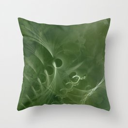 Abstract Green Marble Throw Pillow