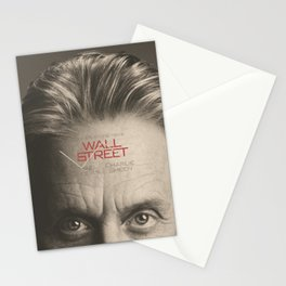 Wall Street, alternative movie poster, Gordon Gekko, Oliver Stone, film, minimal fine art playbill Stationery Cards