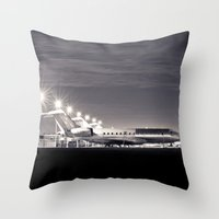 airplane Throw Pillows featuring Airplane by Marose Photo