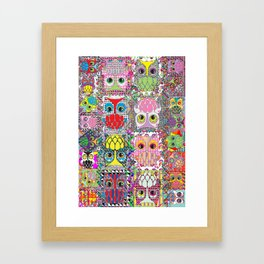 owl party Framed Art Print