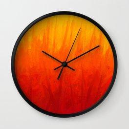 Fire and Liquid Sunshine Wall Clock