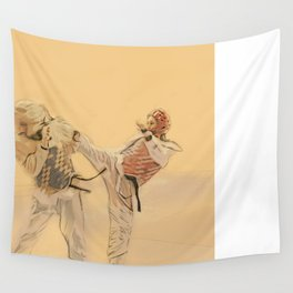 Tae Kwon Do Head Kick Wall Tapestry