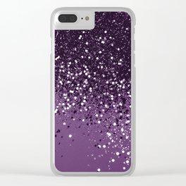 PURPLE Glitter Dream #1 #shiny #decor #art #society6 Clear iPhone Case