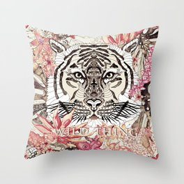 TIGER - WILD THING JUNGLE Throw Pillow