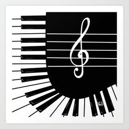 Piano Keys I Art Print