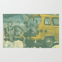 when i was young _ model planes and station wagons Rug