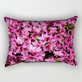 Azalea In Bloom Pattern Rectangular Pillow