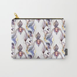 Paphiopedilum, Slipper Orchid Art, Venus Lady Slipper, Exotic Tropical Orchid Carry-All Pouch