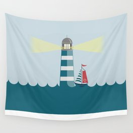 Sea Tower Wall Tapestry