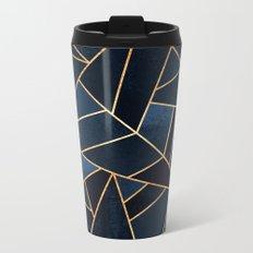 Navy Stone Metal Travel Mug