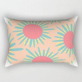 Kiwi Sun Print Rectangular Pillow