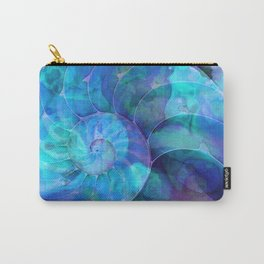 Blue Nautilus Shell  - Seashell Art By Sharon Cummings Carry-All Pouch