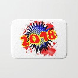 2018 Comic Exclamation Bath Mat