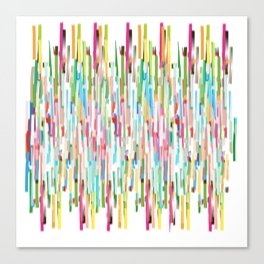 vertical brush strokes  Canvas Print