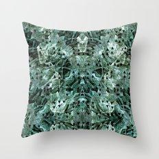 Green rocks Throw Pillow