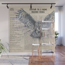 His Master's Voice - The Owl Wall Mural