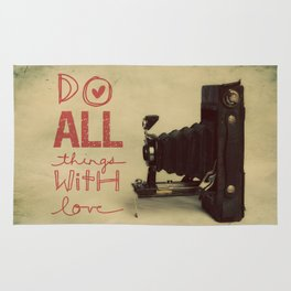Do all things with Love Rug