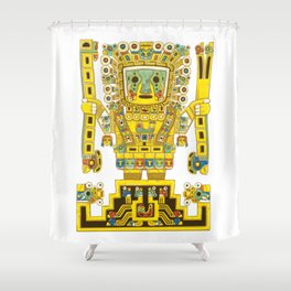 Viracocha Color Shower Curtain