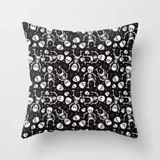 Mexican skull pattern - day of the dead Throw Pillow
