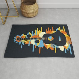 Psychedelic Music Rug