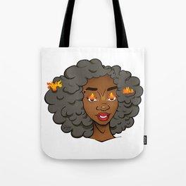 Stormy Grey Edda • Melaninated Girl Power • Black Girl Magic Tote Bag