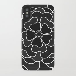 Grey abstract flower #abstractflower iPhone Case