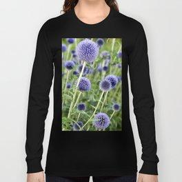 BLUE FLOWERHEADS - Botanical Garden Long Sleeve T-shirt
