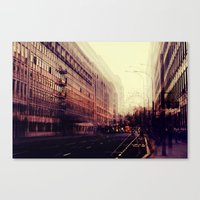 london Canvas Prints featuring London by Ingrid Beddoes