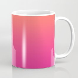 Coral Bright Pink Ombre Gradient Pattern Orange Peachy Soft Trendy Texture Coffee Mug