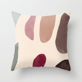 Color Stones Biege Path Throw Pillow