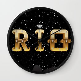 The Face of Rio - Silhouette Wall Clock
