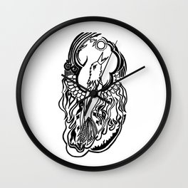 Phoenix Tattoo Wall Clock