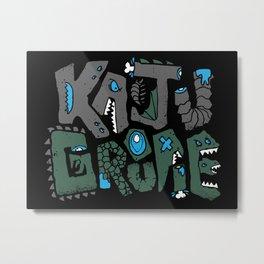 Kaiju Groupie Metal Print