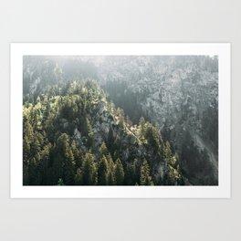 Mountain Lights - Landscape Photography Art Print