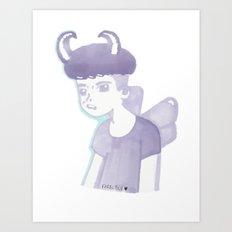 Pastel Punk Pixie Boy Art Print